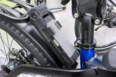 Integriertes Fahrradschloss
